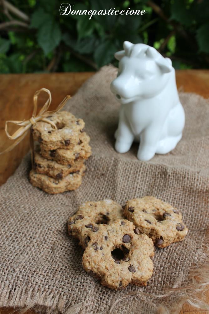 biscotti integrali con gocce di cioccolato fondente