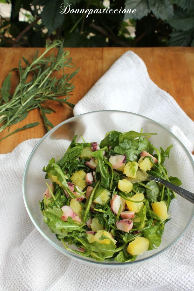 insalata fredda di polpo, patate e rucola