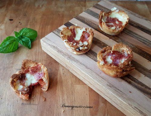 Cestini di pancarrè al gusto pizza
