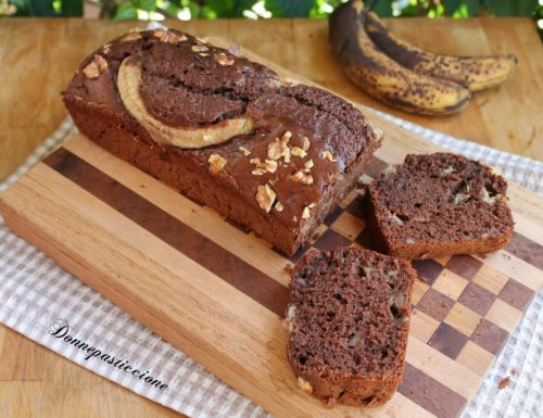 Plumcake al cacao con banane e noci