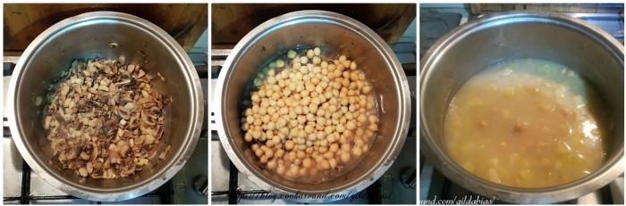 zuppa di castagne, ceci e funghi