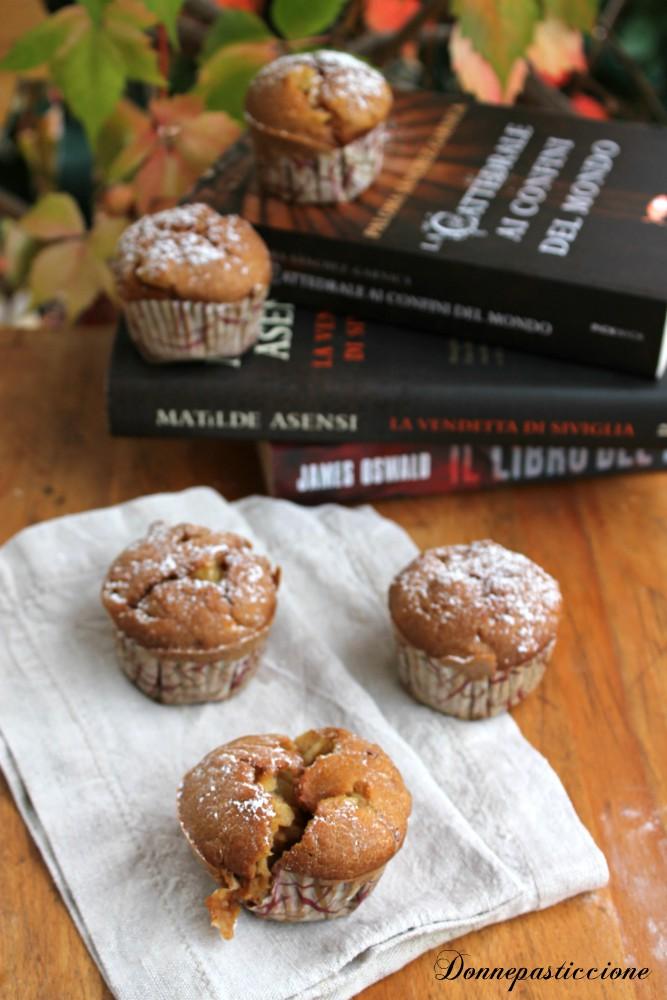 muffins alla zucca con pezzi di mela