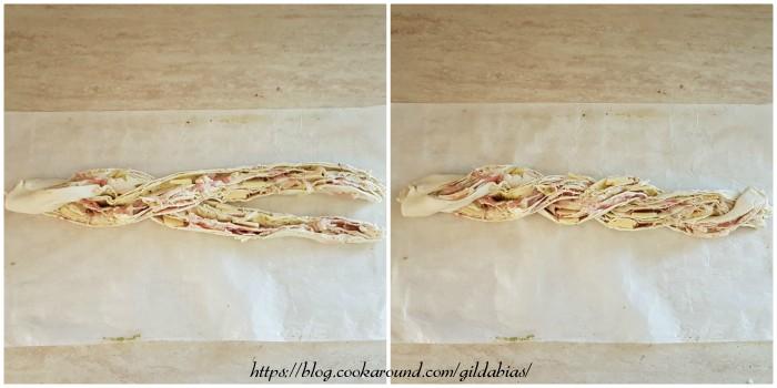 angelica di pasta sfoglia con pancetta e emmental