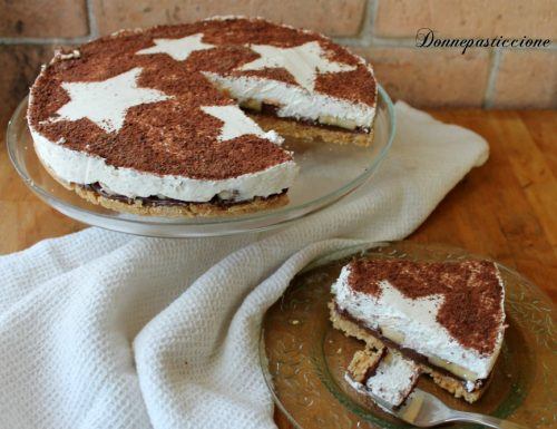 Cheesecake al mascarpone con Nutella e banana