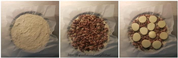 rustica di patate con funghi e salsiccia