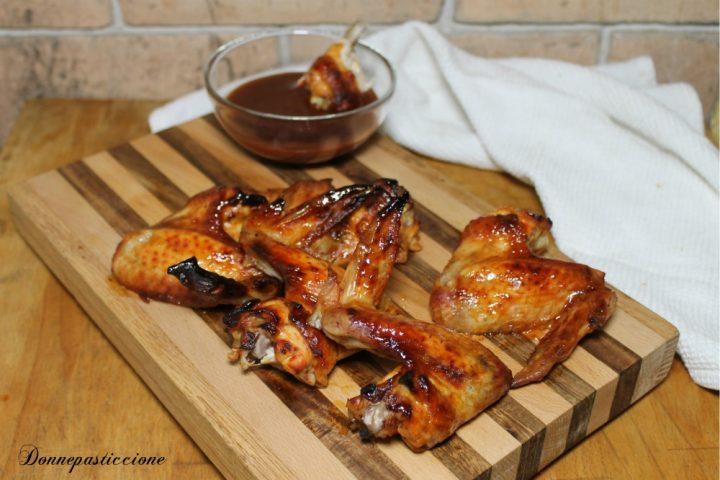 alette di pollo in salsa barbecue