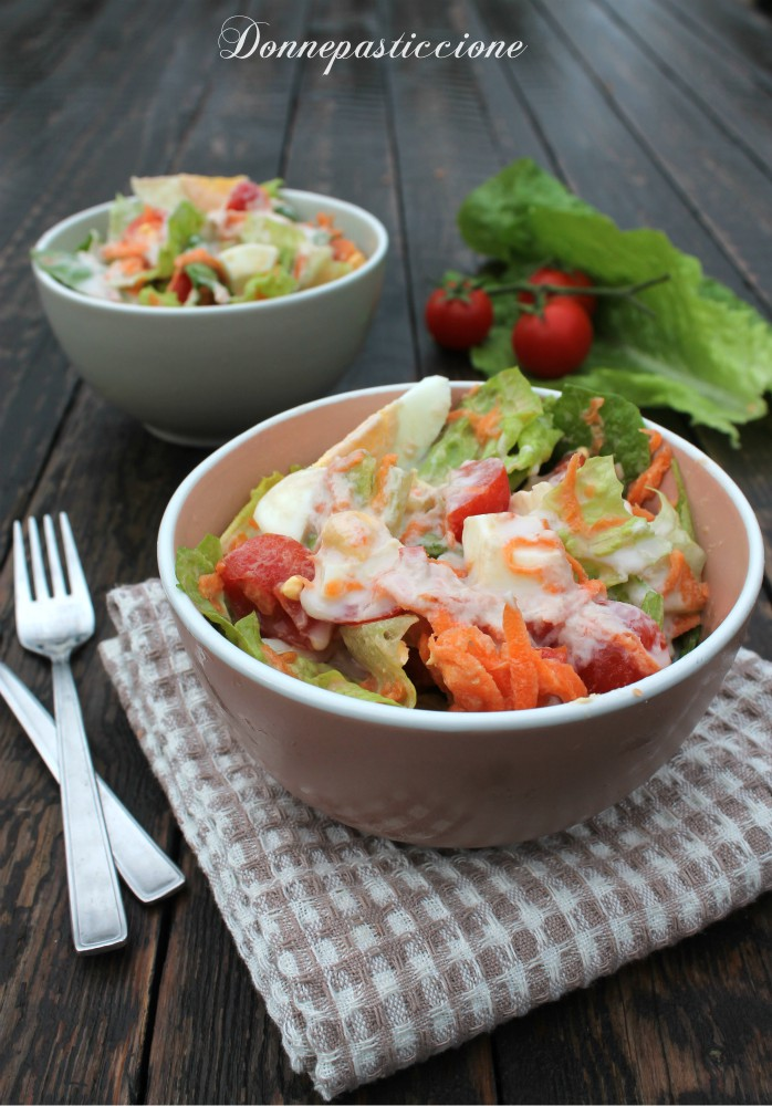 insalata con uova sode e salsa tonnata light