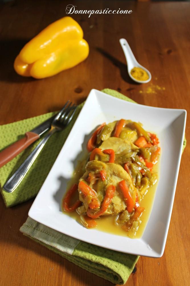 merluzzo con verdure al curry