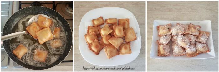 ravioli dolci fritti ripieni di ricotta