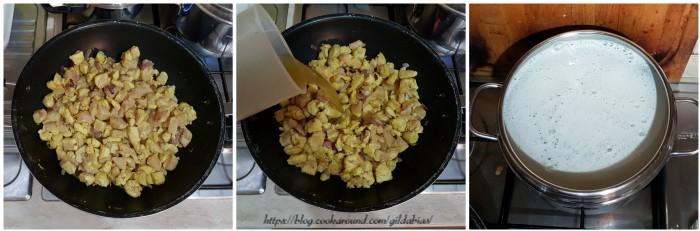 curry di pollo con riso cremoso senza latte di cocco