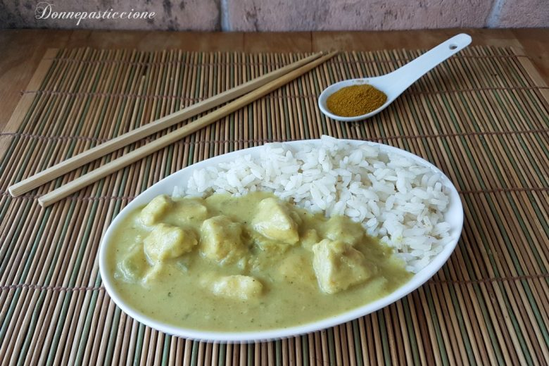 Curry di pollo cremoso senza latte di cocco