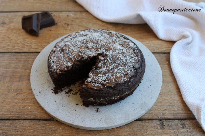 torta al latte di cocco e cioccolato senza uova