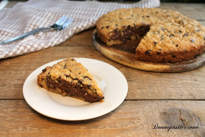torta cookie alla Nutella facile