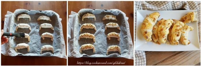 cornetti di sfoglia con arance, cannella e noci