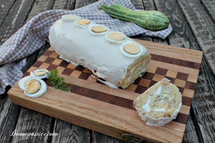 polpettone freddo di tonno, patate e zucchine