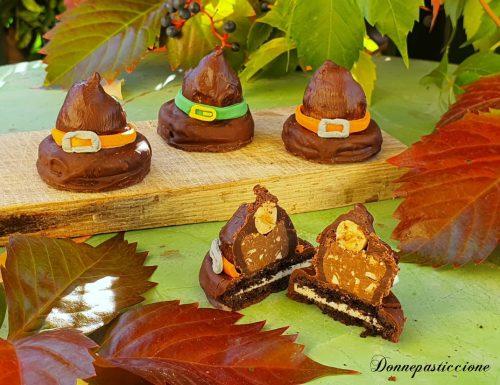 Cappelli della strega al cioccolato di Halloween