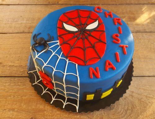 Torta Spiderman in pasta di zucchero