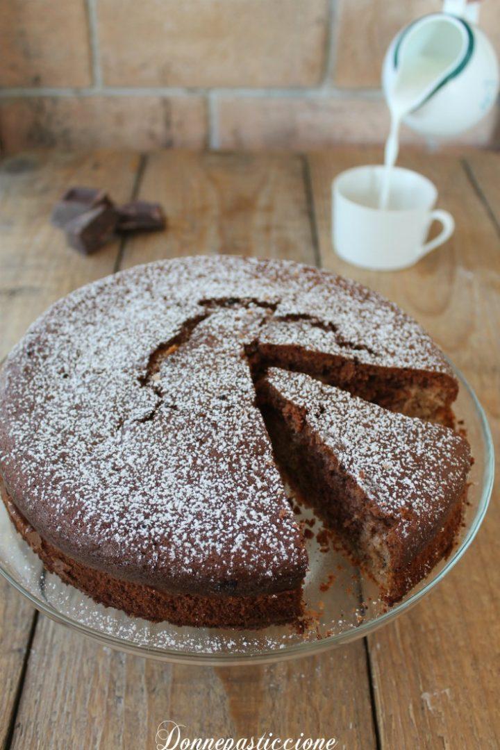 torta al cioccolato con noci e rum