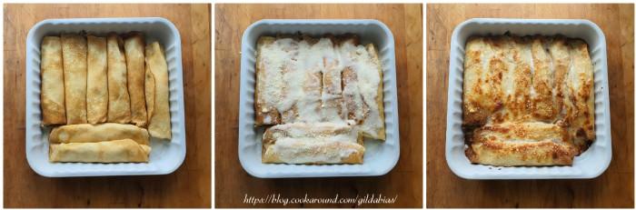 cannelloni di crepes con ricotta e cime di rapa