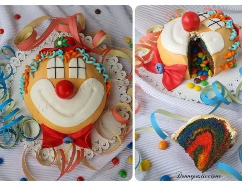 Torta clown in pasta di zucchero con sorpresa