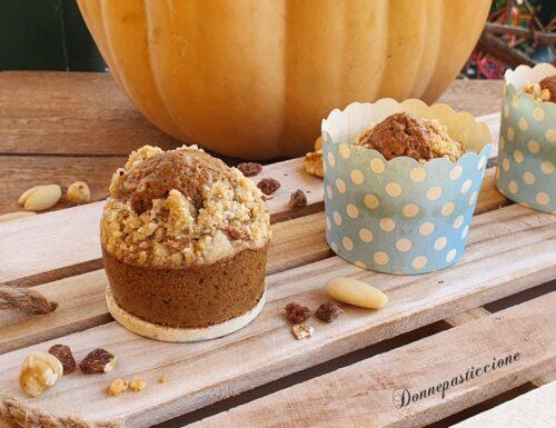 Muffins allo yogurt con zucca e caffè