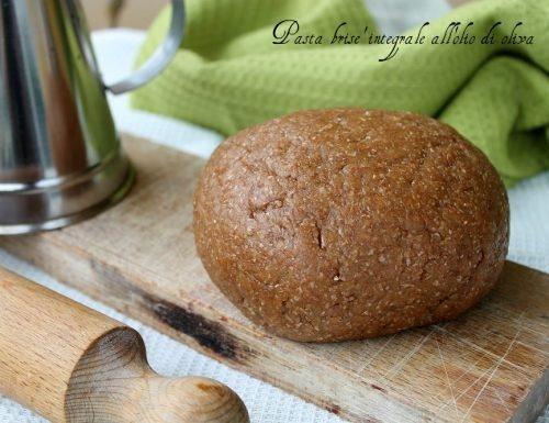Pasta brisé integrale all'olio di oliva
