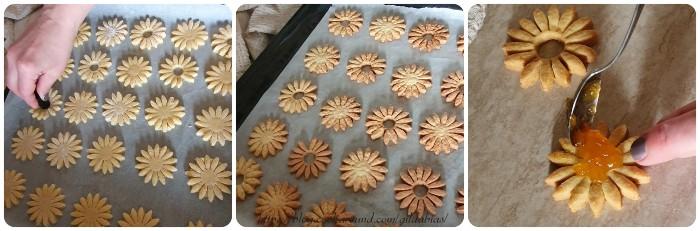 margherite biscotto farcite alla marmellata