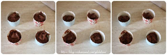 muffins brownies con ovetti di cioccolato