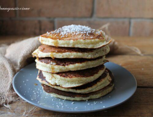 Pancakes al cocco senza lattosio né grassi