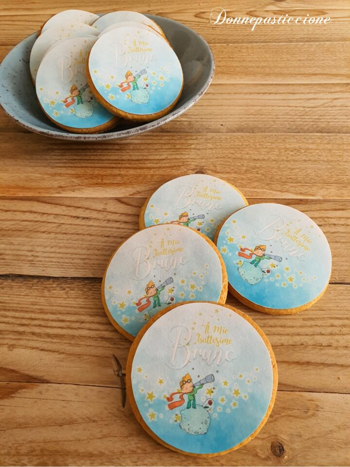 biscotti al burro decorati a tema Piccolo Principe