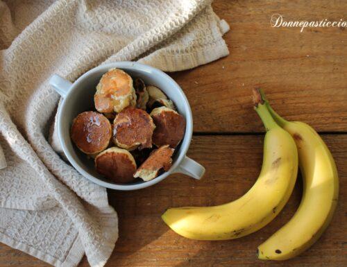 Mini pancakes di banane al cocco