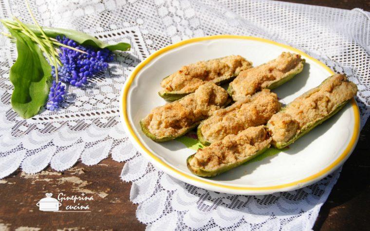 zucchini ripieni alla ligure (sùcchin pin)