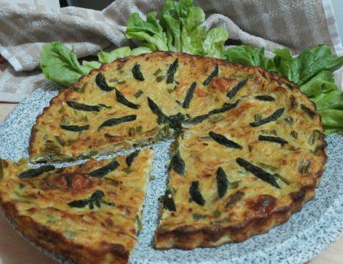 frittata di asparagi, patate e formaggio
