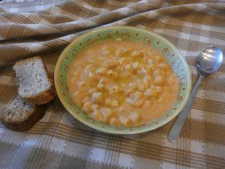 zuppa di ceci con pasta