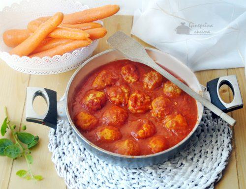 polpettine di tacchino e carote in salsa di pomodoro