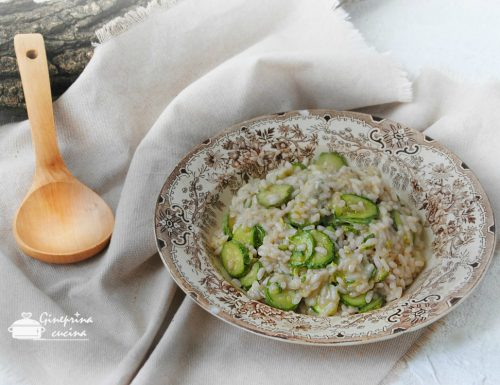 risotto alle zucchine e gorgonzola