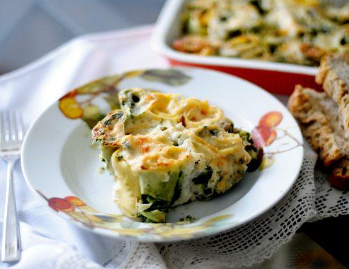 rotolini di pasta con spinaci gratinati al forno