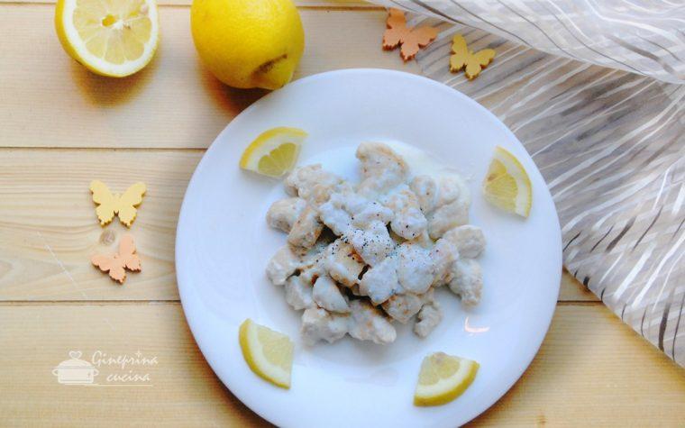 bocconcini di pollo al limone cremosi