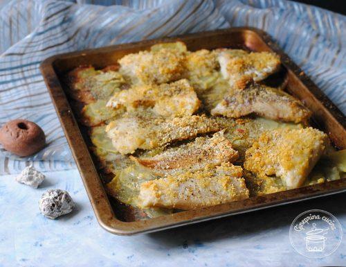 filetti di merluzzo al forno su letto di patate