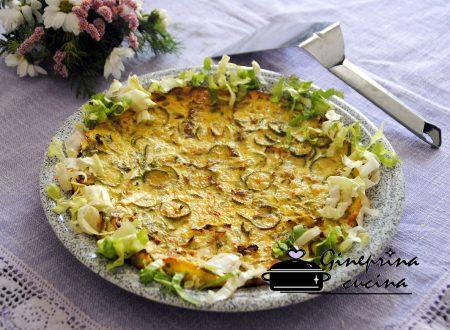 frittata di zucchine e scarola al forno