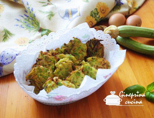 frittelle di zucchine con erba cipollina