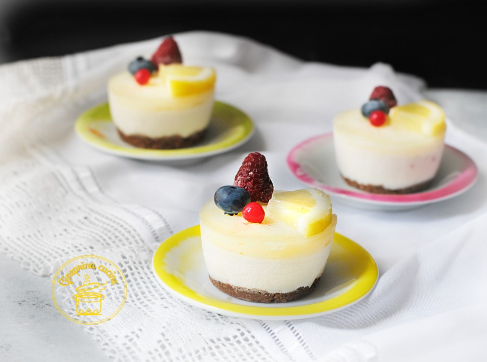 mini cheesecache al limone