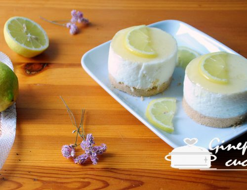 mini cheesecake al limone light
