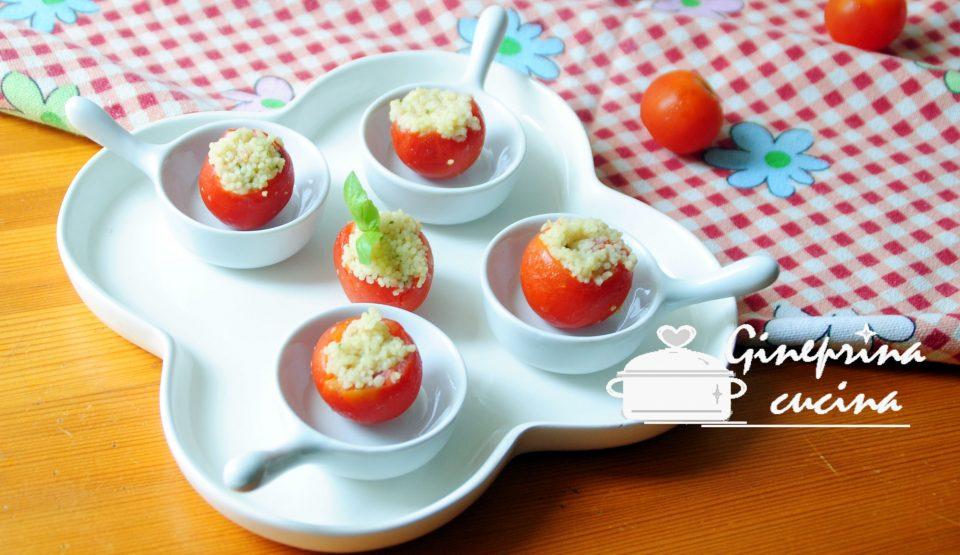 pomodorini ripieni di cous cous