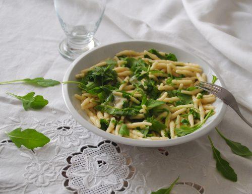 trofie gorgonzola e rucola