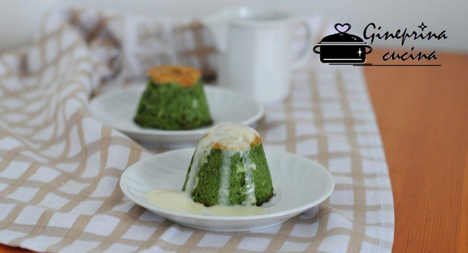 flan di spinaci con crema al gorgonzola