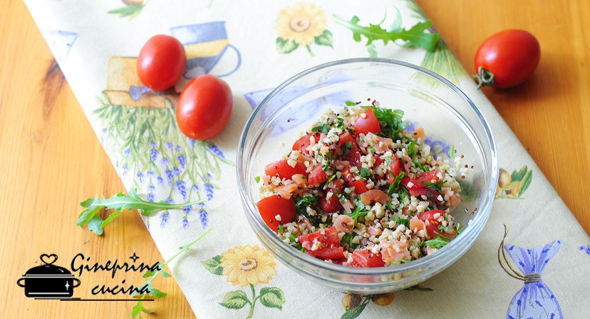 insalata di quinoa e grano con salmone 1