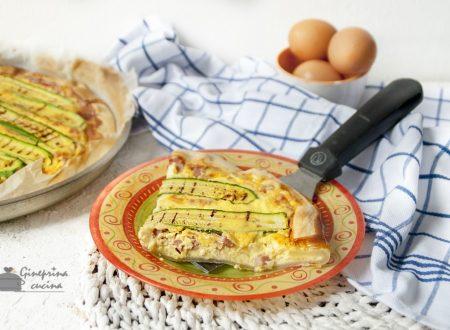 quiche lorraine con pancetta e zucchine