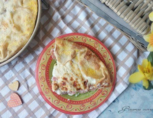 torta prosciutto parmigiano e besciamella