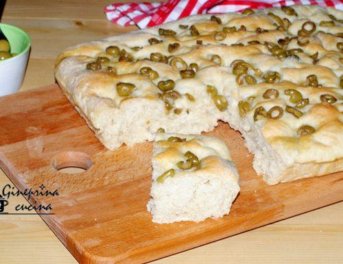 focaccia con le olive verdi – anche con il bimby